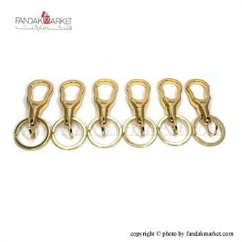 جاکلیدی دو حلقه فلزی طلایی رنگ