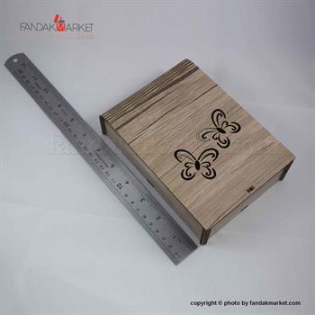 جعبه کادویی چوبی پیپ مدل پروانه
