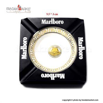 زیر سیگاری مربع مشکی مارلبرو طرح ورساچه