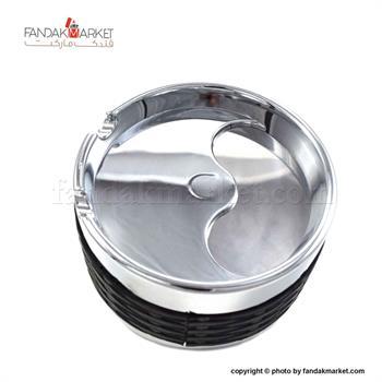 زیر سیگاری فلزی با درب چرخشی