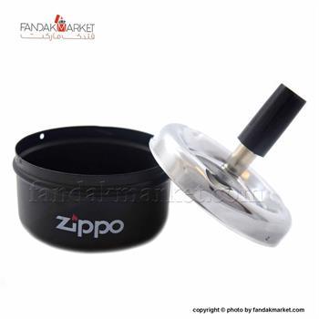 زیر سیگاری فشاری گرد زیپو