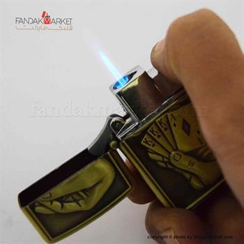 فندک کادویی جیبی با طرح برجسته ورق