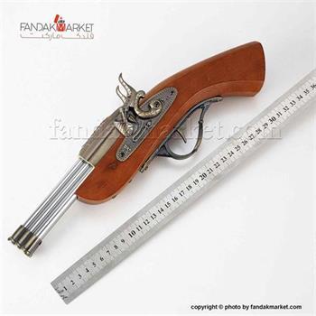 فندک دکوری مدل تپانچه شش لول