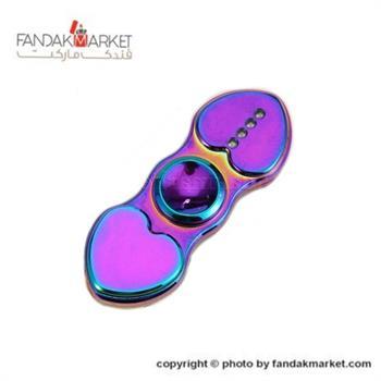 فندک اسپینر دو پره چراغ دار مدل قلب