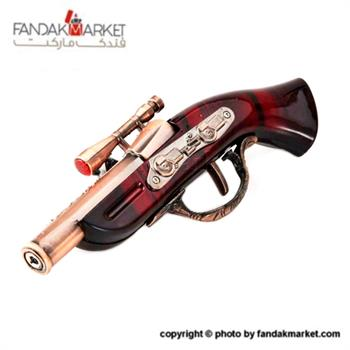 فندک دکوری مدل تپانچه شعله قرمز دوربین دار