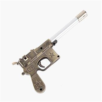 فندک مدل تفنگ کمیسر طرح استار دو شعله