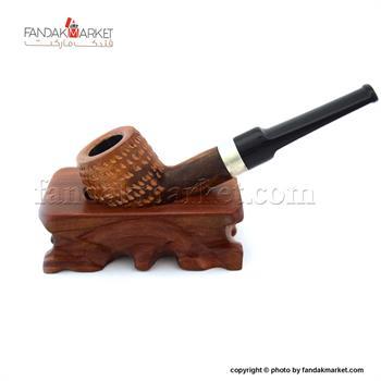 پیپ چوبی حکاکی شده کاپتان بلک