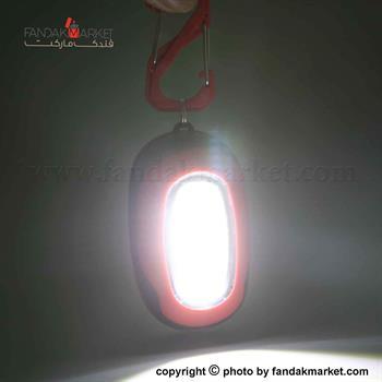 چراغ قوه جاکلیدی دار قرمز رنگ COB