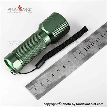 چراغ قوه دستی زوم دار سبز رنگ LED
