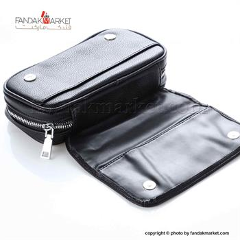 کیف پیپ چرمی زیپ دار ساوینلی